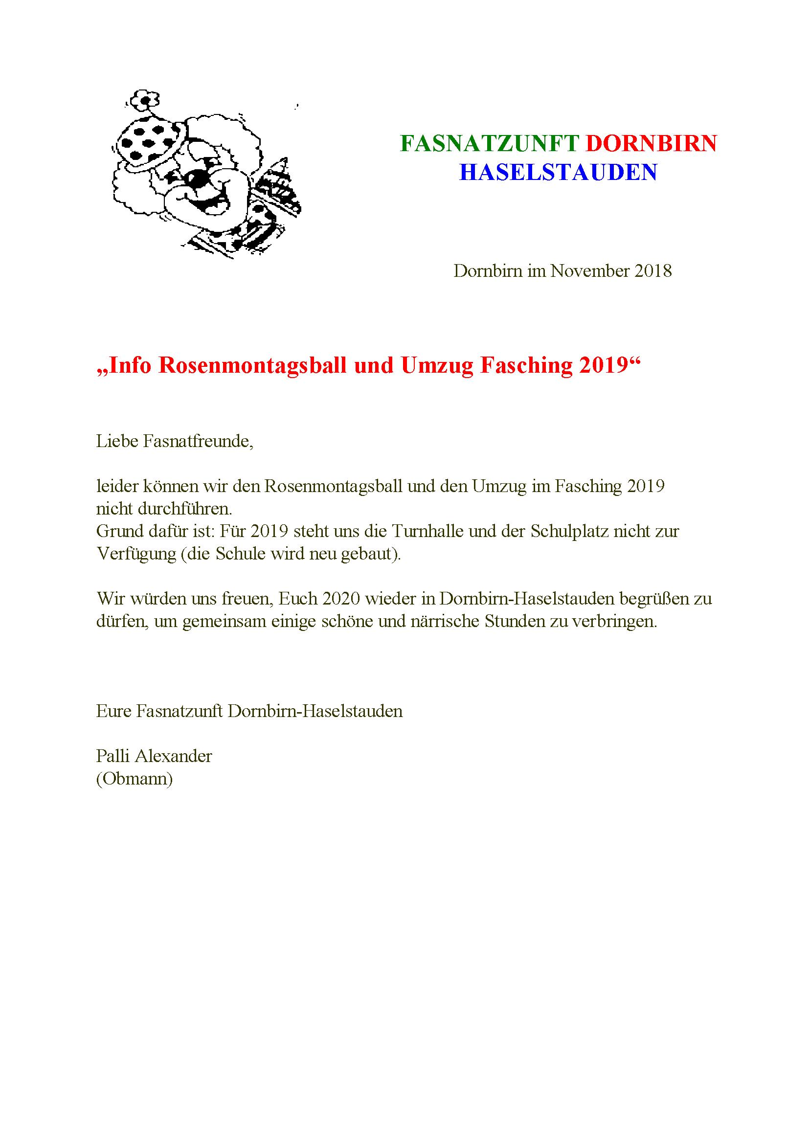 Dornbirner Fasnat Zunft Kein Umzug Dornbirn Haselstauden 2019